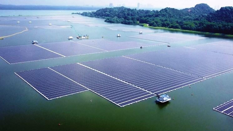 Plutajuća solarna farma u Singapuru / Foto: Interestingengineering
